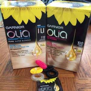 5 FREE HAIR BOBBINS WITH PURCHASE - 2 olia hair dyes for £11 @ Superdrug