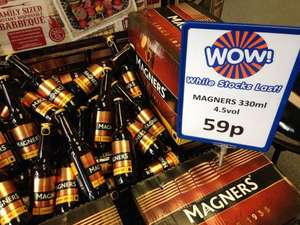 Magners cider 330ml seen in B&M Pentwyn Cardiff 59p
