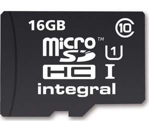 16GB micro sd memory card £5.99 Currys