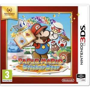 Paper Mario: Sticker Star 3DS (Selects Edition) £10 @ Smyths (Instore Only)