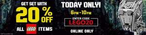 Flash Sale - 20% off Lego @ Disney Store 6pm-10pm