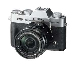 Fuji X-T20 24.3 MP 3-Inch LCD Camera with XC 16 - 50 mm MK II Lens Kit - Silver @ Amazon.es