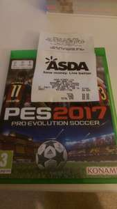 PES 17 for Xbox One - £6 instore @ Asda (Weston Super Mare)