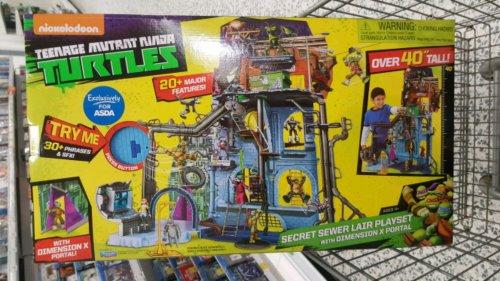 Turtles Dimension X Secret Sewer Lair Playset Asda instore - £14 (Newton Mearns)