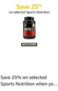 25% Off Sports Nutrition when spending £50 @ Amazon