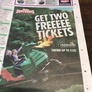 The Sun Newspaper Superdays 2 Free Legoland tickets when you collect 10 Tokens