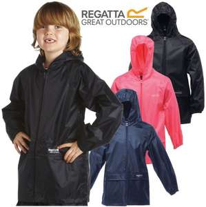 Regatta kids waterproof stormbreak jackets in pink, black or blue ages 2 - 16 now £7.50 delivered @ eBay sold by ickworth products