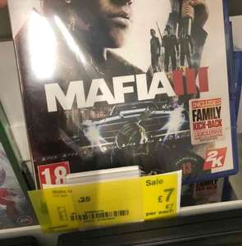 Mafia 3 PS4 £7 Asda Instore
