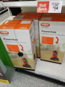 Vax vacuum and steamer £25 instore @ Asda