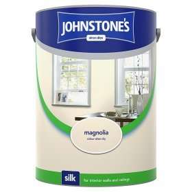 Johnstones 5 litre Magnolia Silk Emulsion Paint £7 at Asda