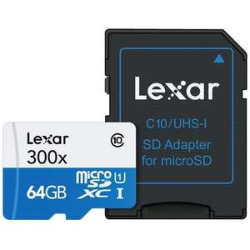 Lexar 64GB High Performance Micro SD Card SDXC 45MB - £15.99 mymemory