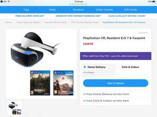 PlayStation VR, Resident Evil 7 & Farpoint: £359.99 @ Smyths Toys