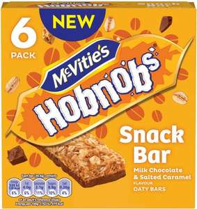 McVitie's Hobnobs Milk Chocolate & Golden Syrup Oaty Snack Bar 6 x 30g (Rollback Deal) 50p was £1.00 @ Asda