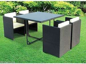 Rattan Garden furniture/Patio Set. Cube - £179.50 @ ijinteriors / eBay