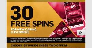 30 FREE Slot Spins with Betfair (No Desposit Required)