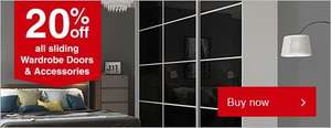 20% off plus additional 20% off Wickes Sliding Wardrobe Doors and Accessories (Possible Glitch)