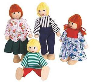 Amazon Add-On Item: 'Woodyland Pretend Play Classic Dolls for Doll House' (4-Piece).