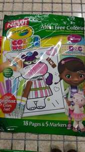 Crayola Doc McStuffins Colour Wonder 65p Sainsburys instore