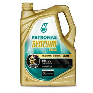 Petronas Syntium 7000 0W-20 - 5ltr engine oil with code WEEKEND12 for just £20.05 delivered from CARPARTS4LESS.CO.UK