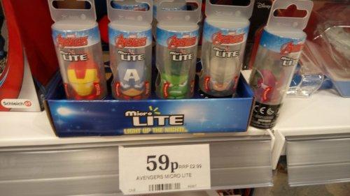 Marvel Avengers Micro Lites 59p instore @ Home Bargains