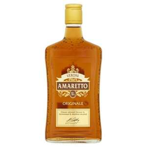 Amaretto Veroni originale. 50cl. ASDA.