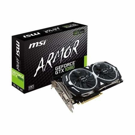 MSI ARMOR GeForce GTX 1080 8GB GDDR5X OC Graphics Card . @ Laptops Direct