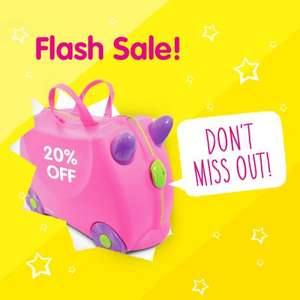 Flash Sale @ Trunki - 20% Off Whole Range - Use Discount Code FLASH20