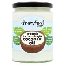 Coconut oil, 500ml, organic, raw cold pressed, Tesco. Made by The groovy food company £5 @ Tesco