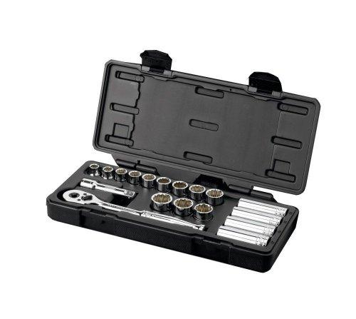 """Halfords Advanced Professional Socket Set Kit 3/8"""" 18 Piece Standard Deep Tools £12.50 + £2.99 del or Free C+C (was £50) @ Halfords Ebay Outlet"""