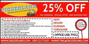 25% off Diggerland this weekend