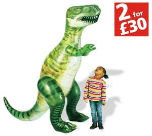 Chad Valley Bug Slide £20.99 / 6ft Giant Inflatable Dinosaur £22.99 or 2 for £30 (mix & match over 70 items) @ Argos