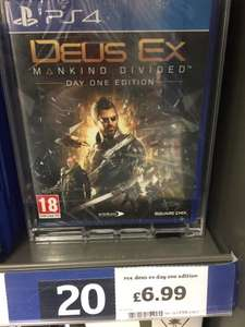 Deus Ex Mankind Divided PS4 - £6.99 instore @ Sainsbury's