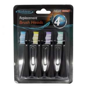 Soniclean PlatinumHDX Replacement Toothbrush Heads x4 - Black or White £3.48 delivered @ Chemist4U