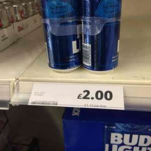 4 cans of Bud Light only £2 at tesco