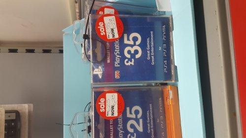 Playstation wallet top up £35 for 28 and £25 for 20 instore Asda Cramlington