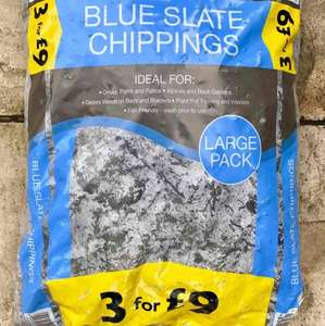 Blue Slate Chippings, 3 large bags for £9 instore @ Morrisons Crawley