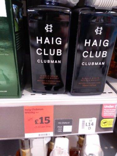 Haig Club clubman scotch £15 @ Sainsburys instore