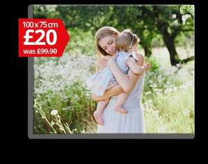 My Picture canvas print 100 x 75cm £20 + £5 delivery expires midnight 20/5