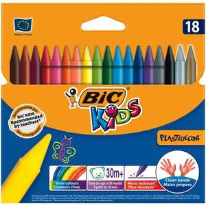 BIC Kids Plastidecor Crayons 18pk - £1 at Wilko