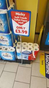 Nicky 24pk Toilet roll at Heron £3.99 instore