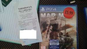 MAD MAX PS4 £5.99 SAINSBURYS'S