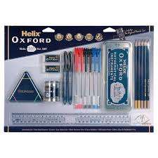 Oxford 19 piece stationery set @ tesco instore for £3.75