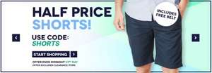 Half Price Shorts includes Free Belt with code SHORTS @ Charles Wilson