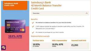 Longest 42 months 0% interest on balance transfers Credit Card & 5,000 bonus Nectar points @ Sainsburys Bank