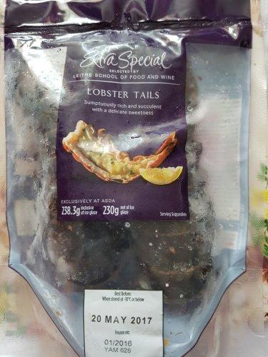 Pack of 2 lobster tails - £1.50 instore @ ASDA (Bishop Auckland)