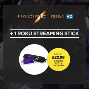 Pacific RIM HD + 1 Roku Streaming Stick (£22.99) or Pacific RIM HD + Google Chromecast (£21.99) includes Free Delivery @ Wuaki