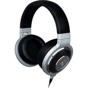 RAZER KRAKEN FORGED MUSIC AND GAMING HEADPHONES WITH MIC - SILVER REDUCED TO £59.99 !!! @ IWOOT