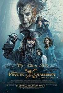 Free Cinema Tickets  - New Code - Pirates of the Caribbean: Salazar's Revenge  -Wed   24/05/17  @ SFF