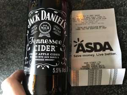 Jack Daniel's Cider (330ml) £1.50 each @ Asda