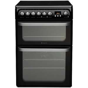 Hotpoint HUE61KS Electric Cooker, Black £269.00 @ John Lewis
